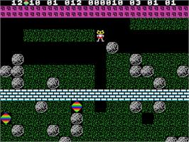 In game image of Boulder Dash on the Coleco Vision.