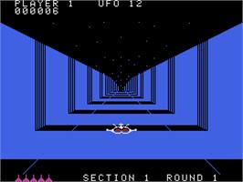 In game image of Buck Rogers: Planet of Zoom on the Coleco Vision.