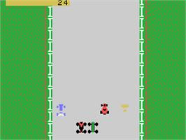 In game image of Bump 'n' Jump on the Coleco Vision.
