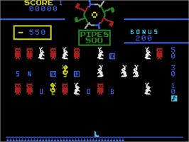 In game image of Carnival on the Coleco Vision.