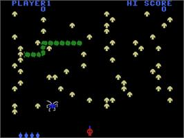 In game image of Centipede on the Coleco Vision.