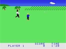 In game image of Chuck Norris Superkicks on the Coleco Vision.