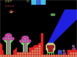 In game image of Cosmic Avenger on the Coleco Vision.