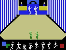 In game image of Dance Fantasy on the Coleco Vision.