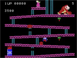In game image of Donkey Kong on the Coleco Vision.