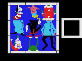 In game image of Dr. Seuss's Fix-Up the Mix-Up Puzzler on the Coleco Vision.