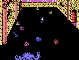 In game image of Dragon Fire on the Coleco Vision.