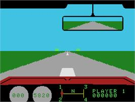 In game image of Dukes of Hazzard on the Coleco Vision.