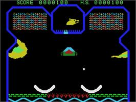 In game image of Flipper Slipper on the Coleco Vision.