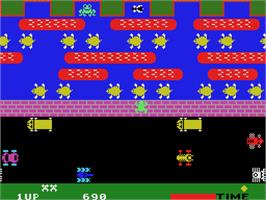 In game image of Frogger on the Coleco Vision.