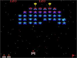 In game image of Galaxian on the Coleco Vision.