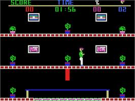 In game image of Heist on the Coleco Vision.