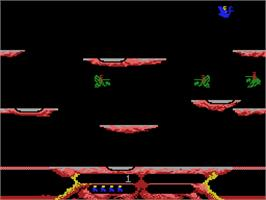In game image of Joust on the Coleco Vision.