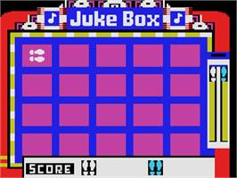 In game image of Juke Box on the Coleco Vision.