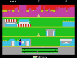 In game image of Keystone Kapers on the Coleco Vision.