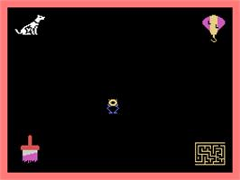 In game image of Learning with Leeper on the Coleco Vision.