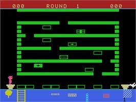 In game image of Linking Logic on the Coleco Vision.
