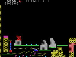 In game image of Looping on the Coleco Vision.