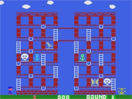 In game image of Memory Manor on the Coleco Vision.