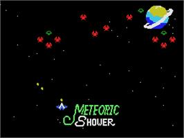 In game image of Meteoric Shower on the Coleco Vision.