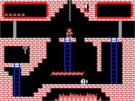 In game image of Montezuma's Revenge on the Coleco Vision.
