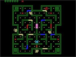 In game image of Mouse Trap on the Coleco Vision.