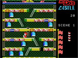 In game image of Mr. Do's Castle on the Coleco Vision.