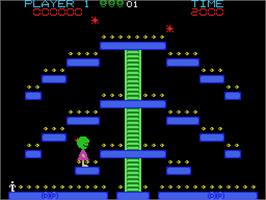 In game image of Ms. Space Fury on the Coleco Vision.