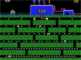 In game image of Oil's Well on the Coleco Vision.