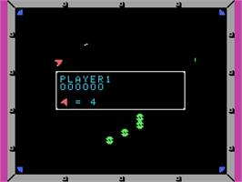In game image of Omega Race on the Coleco Vision.