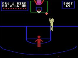 In game image of One on One on the Coleco Vision.