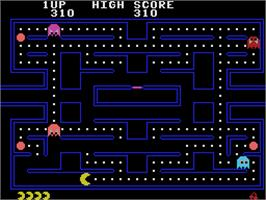 In game image of Pac-Man on the Coleco Vision.