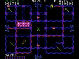 In game image of Pepper II on the Coleco Vision.