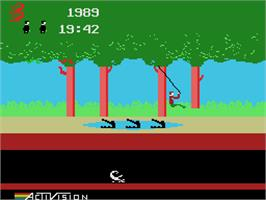 In game image of Pitfall on the Coleco Vision.