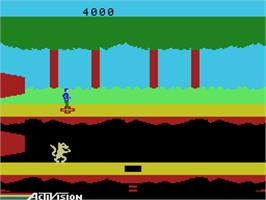 In game image of Pitfall II on the Coleco Vision.