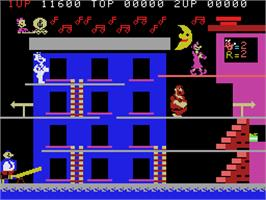 In game image of Popeye on the Coleco Vision.