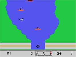 In game image of River Raid on the Coleco Vision.