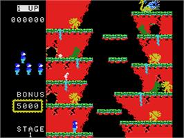 In game image of Roc'n Rope on the Coleco Vision.