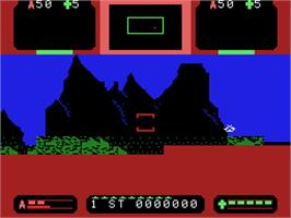 In game image of Sector Alpha on the Coleco Vision.