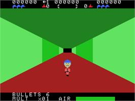 In game image of Sewer Sam on the Coleco Vision.