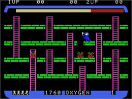 In game image of Space Panic on the Coleco Vision.