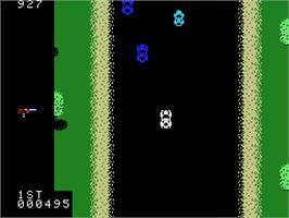 In game image of Spy Hunter on the Coleco Vision.