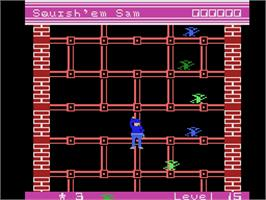 In game image of Squish 'em Sam on the Coleco Vision.