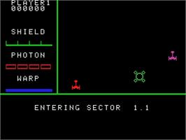 In game image of Star Trek Strategic Operations Simulator on the Coleco Vision.