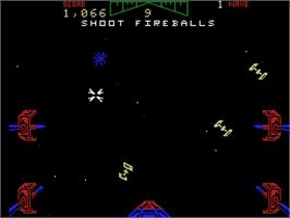 In game image of Star Wars Arcade on the Coleco Vision.