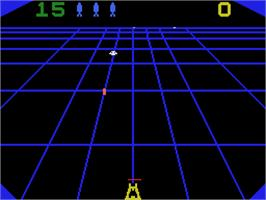 In game image of Steamroller on the Coleco Vision.