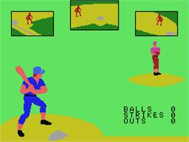 In game image of Super Action Baseball on the Coleco Vision.