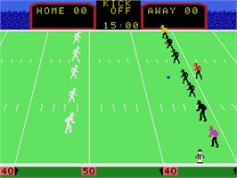In game image of Super Action Football on the Coleco Vision.