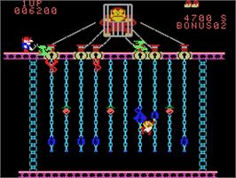 In game image of Super DK! Junior on the Coleco Vision.