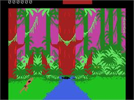 In game image of Tarzan: From Out Of The Jungle... on the Coleco Vision.